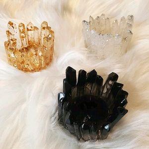 Resin tealight candle / jewelry holders handmade